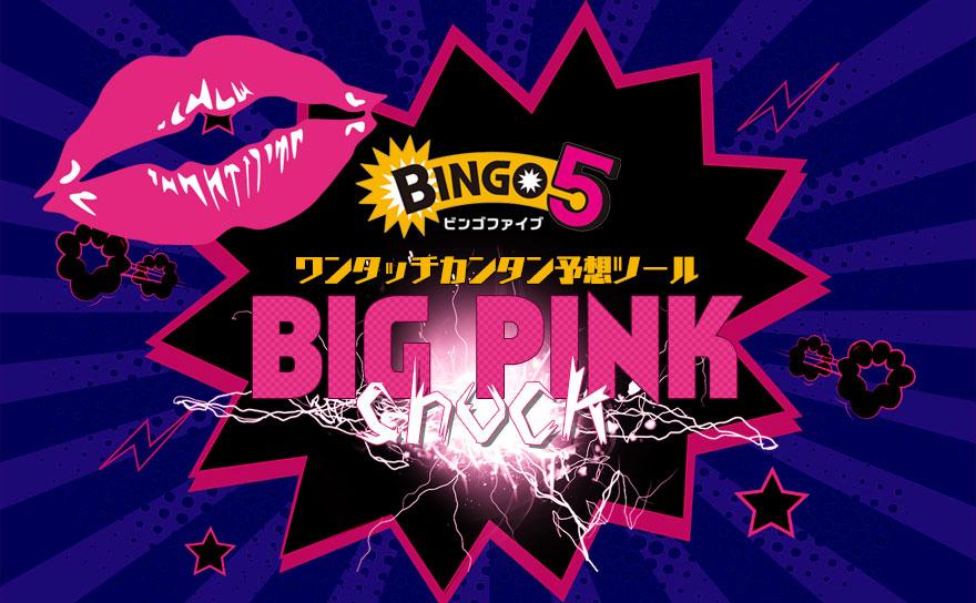 ビンゴ5 予想ツール【BIG PINK SHOCK】