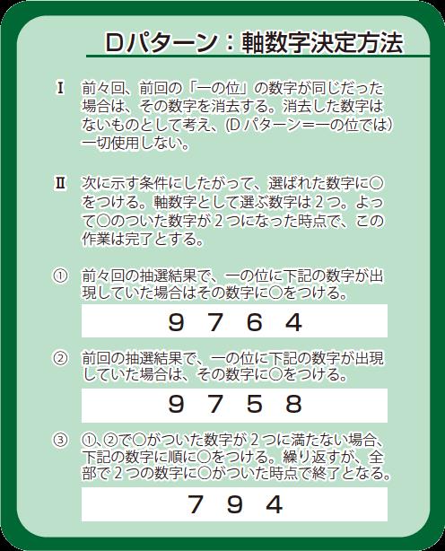 Dパターン:軸数字決定方法